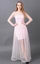 Длинное платье-сетка