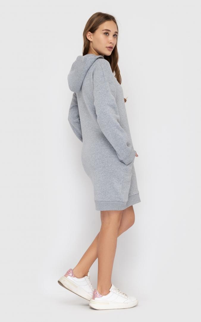 Платье теплое с капюшоном