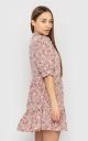 Платье-мини с цветочным принтом