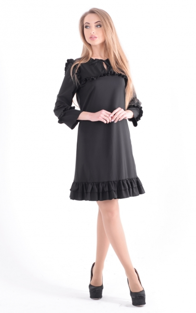 Easy dress ruffle
