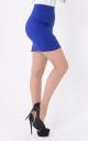 Clinging mini skirt