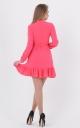 Короткое платье рюша