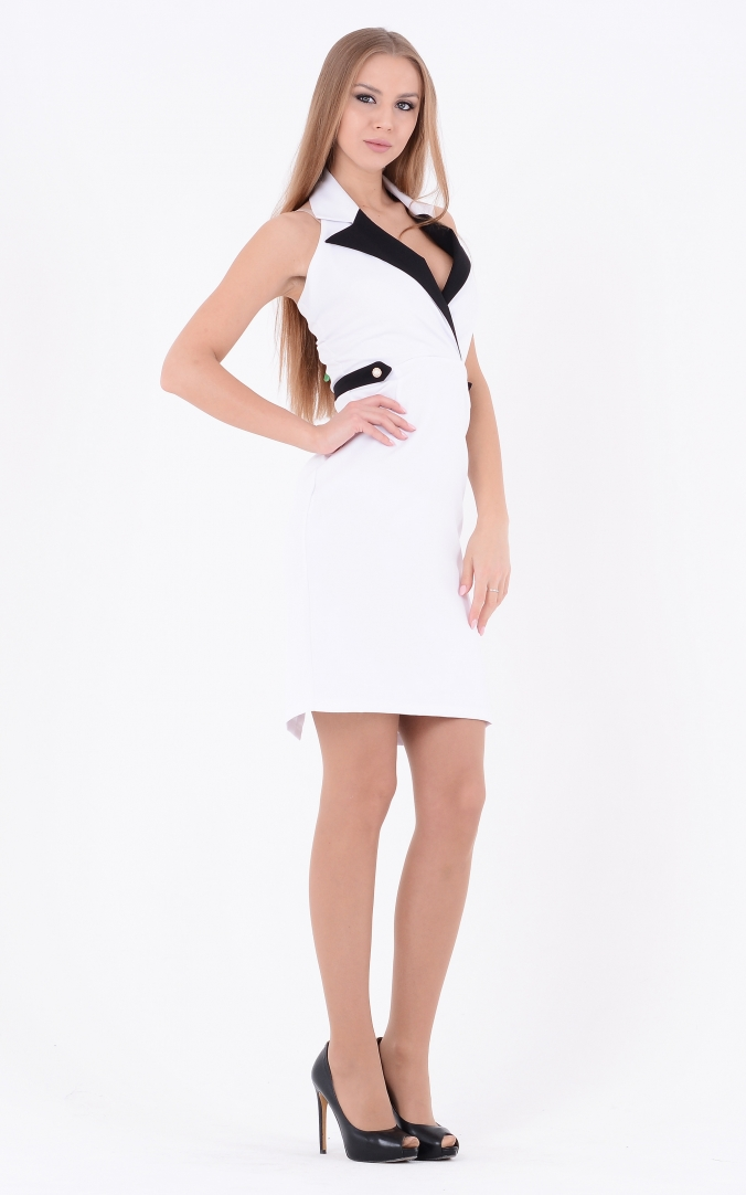Spectacular two-tone dress