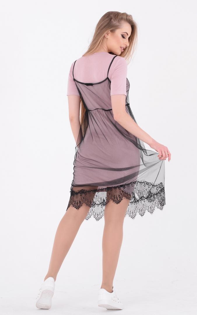 Стильное платье-двойка