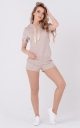 Light suit with hood (beige)