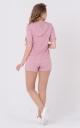 Легкий костюм з капюшоном (рожевий)