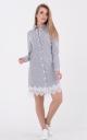 Стильна сукня-сорочка в смужку