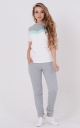 Laconic two-tone suit (gray-turquoise)
