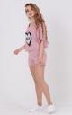 Легкий костюм-двойка пайетки (розовый)