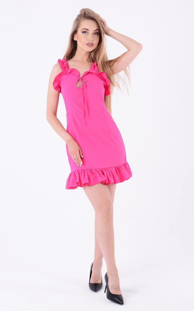 Bright ruffle sundress (pink)
