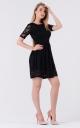 Guipure poofy dress (black)