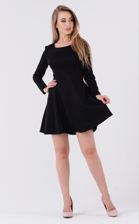 Однотонное пышное платье
