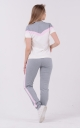 Laconic two-tone suit (gray-pink)
