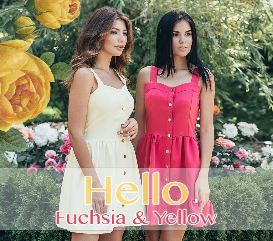 Hello fuchsia and yellow